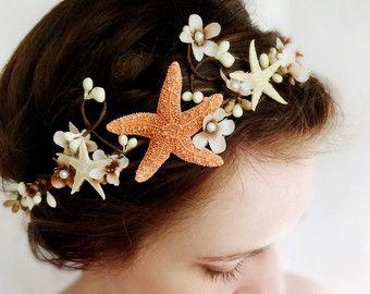 sea shell head | seashell headpiece, bridal headband , beach wedding, starfish head ...