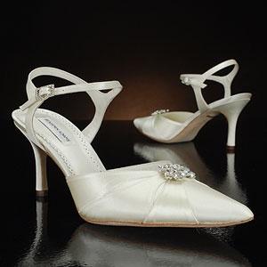 benjamin adams gwyneth white & ivory  Wedding Shoes