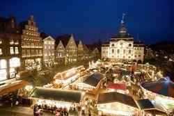 Lüneburger Weihnachtsmarkt am Abend
