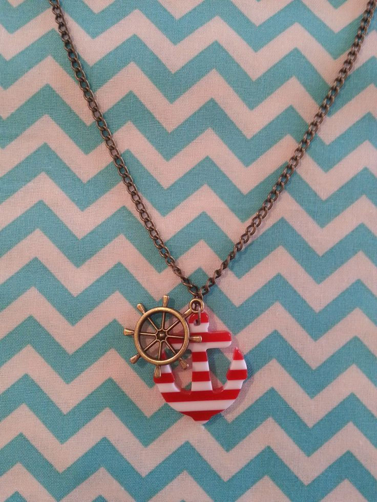 Anchor and helm necklace.