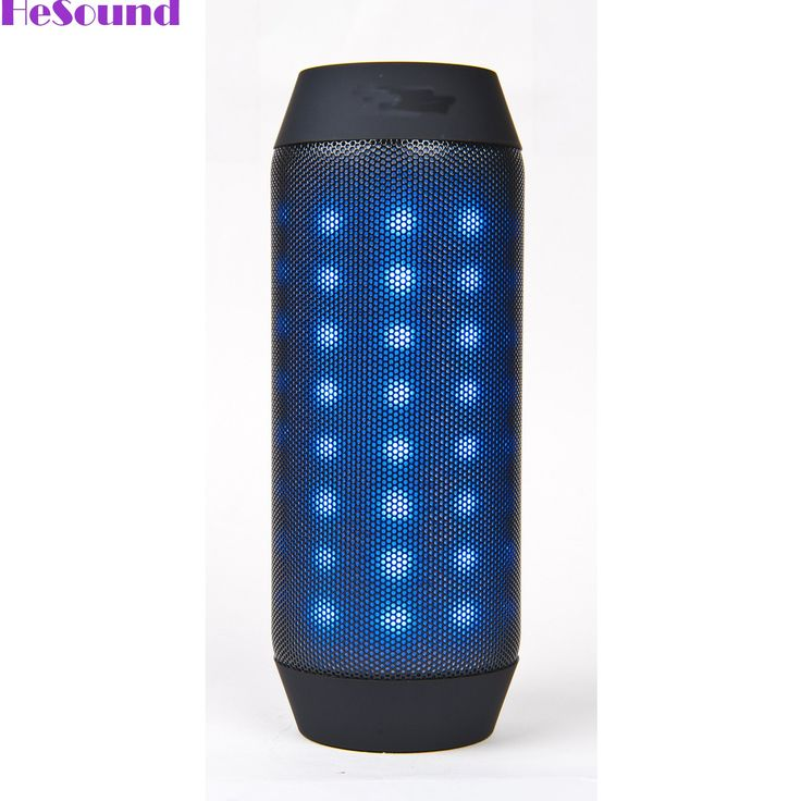 HeSound(TM) Wireless Bluetooth Portable Speaker with Dynamic LED Lights and HD Sound - Black. Rich, LOUD and Crystal Clear HD stereo sound is delivered from 2 high quality drivers. Blue LED aperture navigation; Bluetooth high-definition calls; Support FM radio, TF Card, Bluetooth and line-in mode; Built-in Microphone for hands-free. 5 hours of play and LED light effects on a single charge. 3.5mm Audio Input Support FM Radio, TF Card, Audio and Video Remote Control - Compatible with…