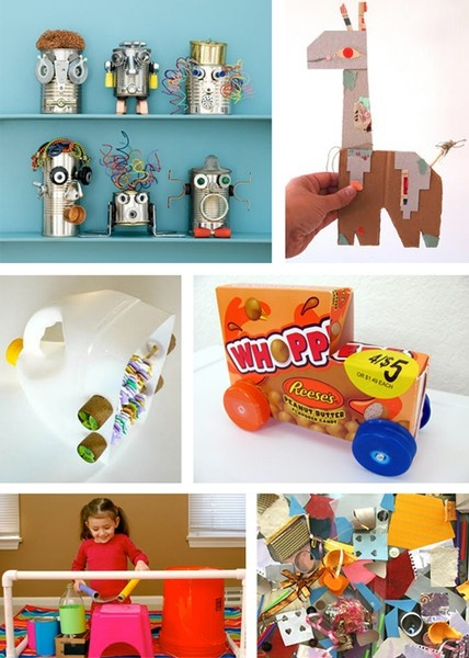 Trash art projects for kids the image for Art from waste ideas for kids