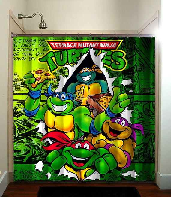 Shower Curtain Made from polyester Machine wash cold  Do not bleach or tumble dry Fitted. 1000  images about Ninja Turtle Bathroom on Pinterest
