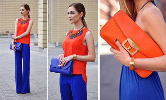❤ =^..^= ❤    Сочетание оранжевого и белого цвета в одежде