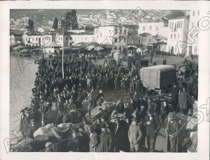 1922 Kavala Thrace Refugees From Greece Turkey War Sleep In Streets Press Photo