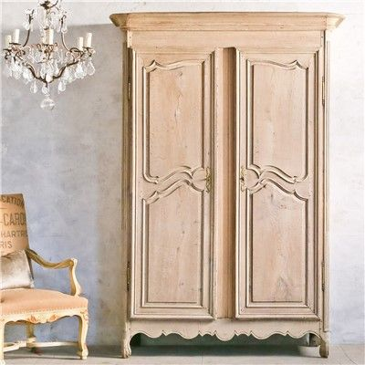 Eloquence One of a Kind Antique Armoire Trousseau Old Oak