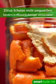 Orangenschalen nicht wegwerfen, sondern in effektiven Universalreiniger verwandeln!