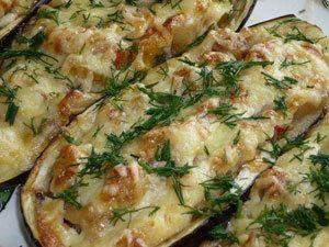 Жареные баклажаны с сыром Фета и мятой