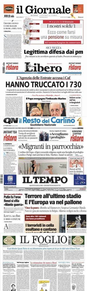 Cinque storici giornali di destra italiani