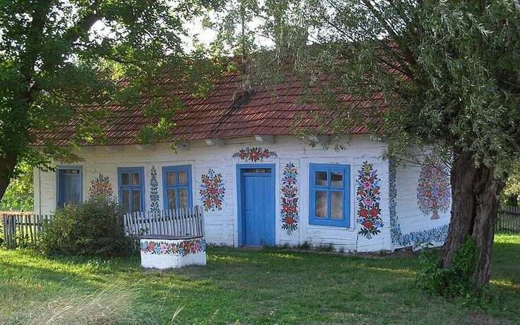 Zalipie – malowane chaty | NaLudowo.pl - Folklor, Etno Design, Kultura Ludowa