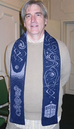 """""""The Name of the Doctor"""" Double knit scarf by Frivolite Handcrafts on ravelry.com. pattern $10.00. Freaking exquisite."""
