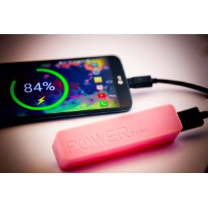 Power Bank 2600 Charges your phone up to two full charges.