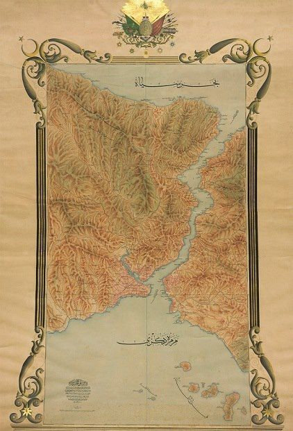 Ottoman map of Istanbul from the reign of Sultan Abdul Hamid II.