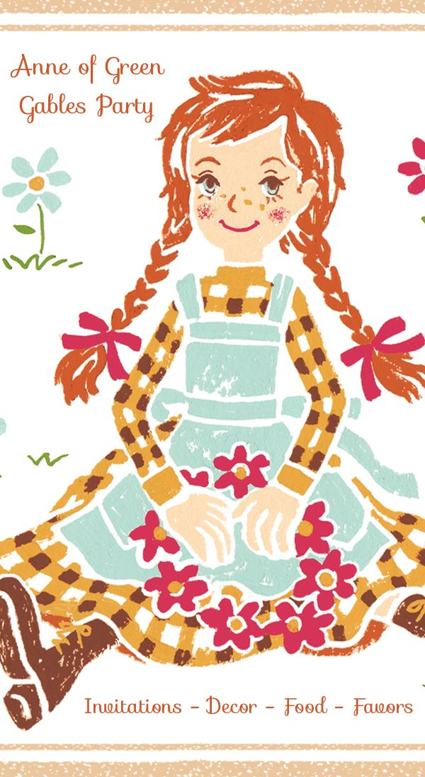 Anne of Green Gables Party - ideas for invitations, decorations, food, favors! #AnneofGG #GilbertBlythe