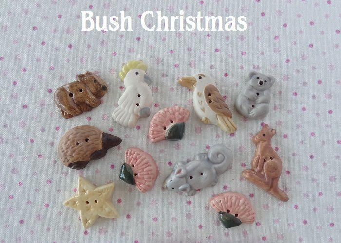 Bush Christmas   www.cherabellabuttons.com.au