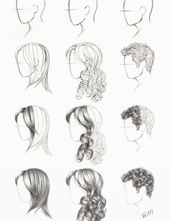Fabulous 17 Best Ideas About Hair Drawing Tutorial On Pinterest Draw Hairstyle Inspiration Daily Dogsangcom
