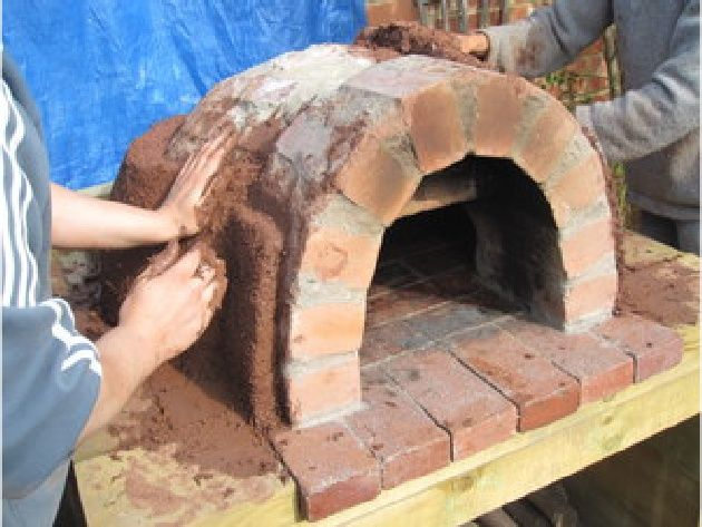 How to build a brick pizza oven.
