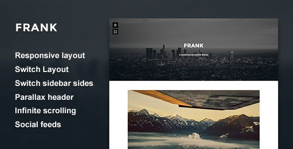Frank - Minimal One Column theme