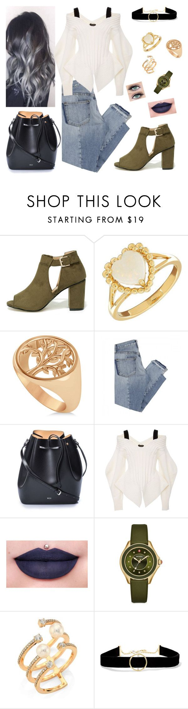 """Sem título #1142"" by anaritaferreira on Polyvore featuring moda, Mixx Shuz, Lord & Taylor, Allurez, Mix Nouveau, N°21, Burberry, Jeffree Star, Michele e Hueb"