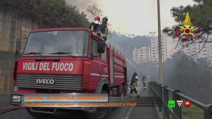 Vigili del Fuoco - Geneva - Interventi per incendi su Monte Moro e Pegli...