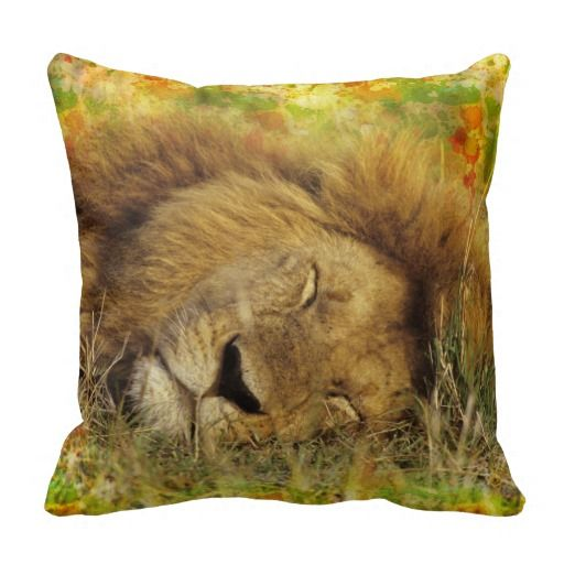 Sleeping Lion Pillows