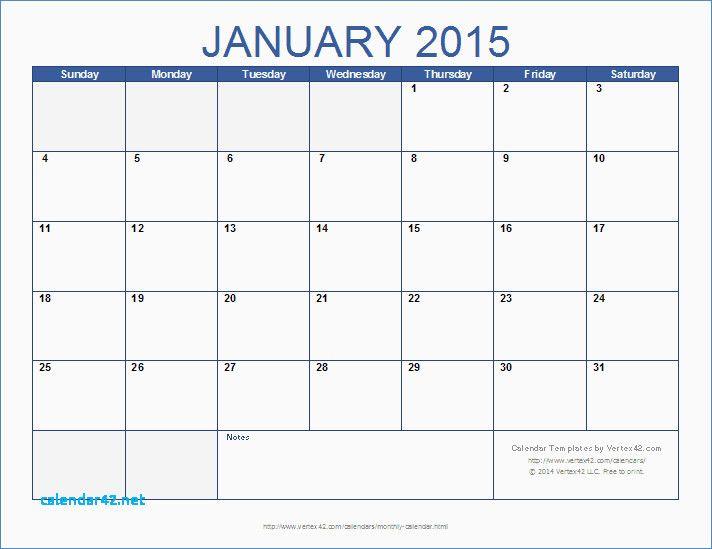 weekly calendar template 2015