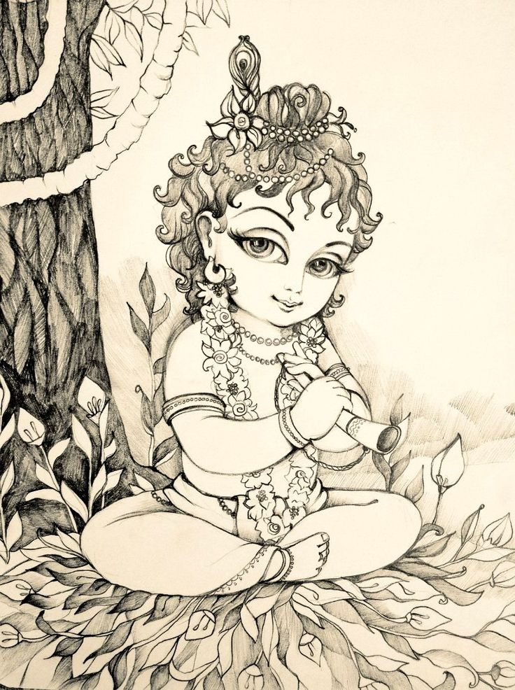 Modern Tee - India Hindu god Krishna by VIDA VIDA Sale hwW0tj7Kp