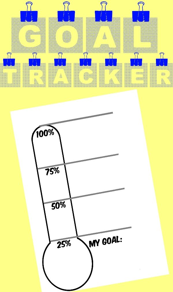 *FREE* We all know that when we keep track of our progress towards a goal, that we are much more likely to stick to it. Here is a great way for you and your students to record and celebrate their work as they chase their goals. Included are two ways to track. - Pre-Filled meter that provides space for a goal to be written out. Progress already labeled in 25% increments up to 100% - Completely blank meter that gives you the freedom to fill out as needed.