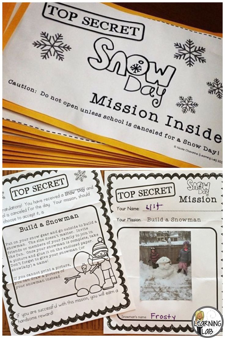 Make snow days even more exciting with these secret snow day missions!