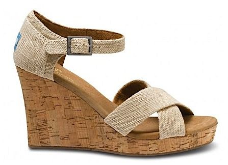 TOMS Wedge Sandals - got these instead of the ones I pinned on my wishlist. So comfy!