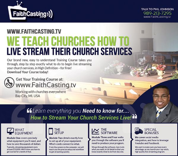 how to live stream church service