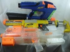 NERF GUN LOT (3) RECON CS-6 DEPLOY CS-6 & MAGSTRIKE DART TAG-WORKING