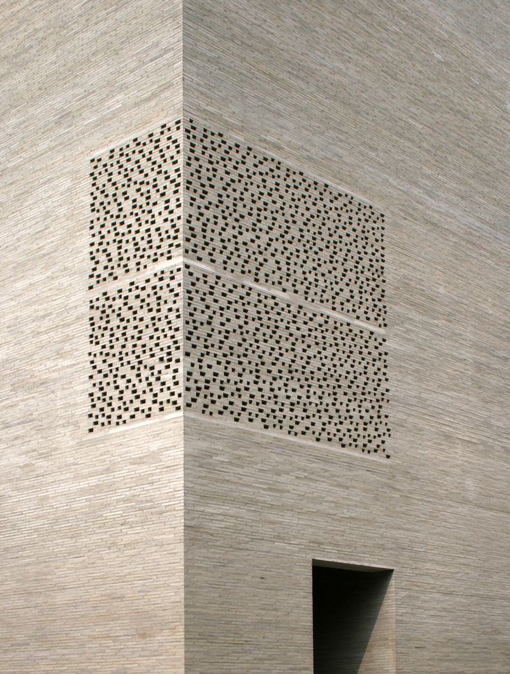 "gray brick ""filter walls"" of the Kolumba Museum in Keulen, Peter Zumthor"