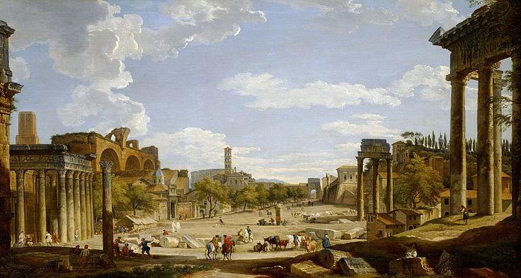 Вид римского форума 1735, 73х135, Институт искусств Детройт
