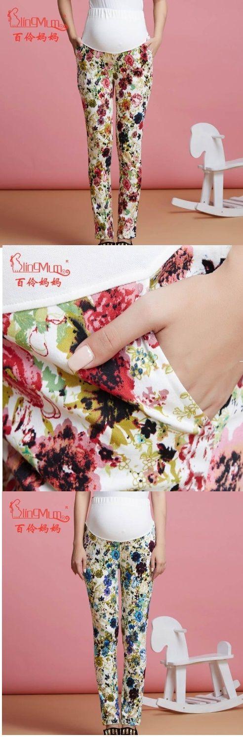 #Pantalones de #maternidad con estampado de #flores. ¿Cuál prefieren? Encuéntralos en nuestro sitio.