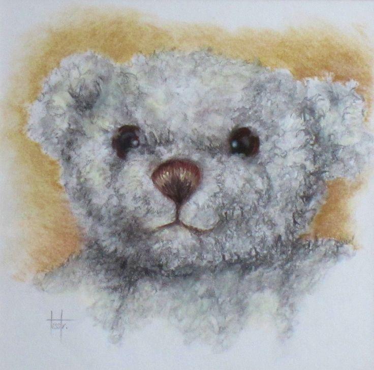 'Horlicks' pastel toy portrait