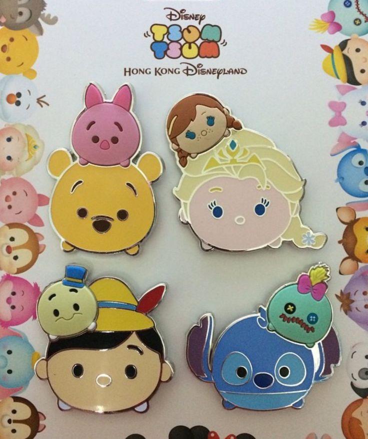 Hong Kong Disneyland Tsum Tsum Pin Set