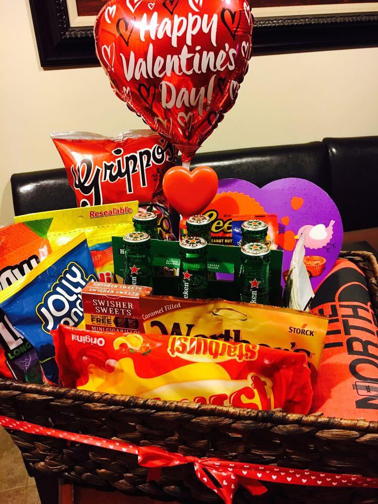 Valentineu0027s Gift Basket For Him
