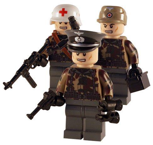 WW2 Lego - German Field 3 Man Squad