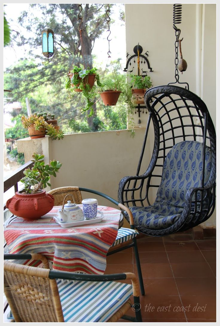 Best 25 indian interiors ideas on pinterest for Balcony decoration ideas india