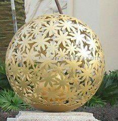 uitsparing roestvrij staal gravure bloem bal/bol/sculptuur