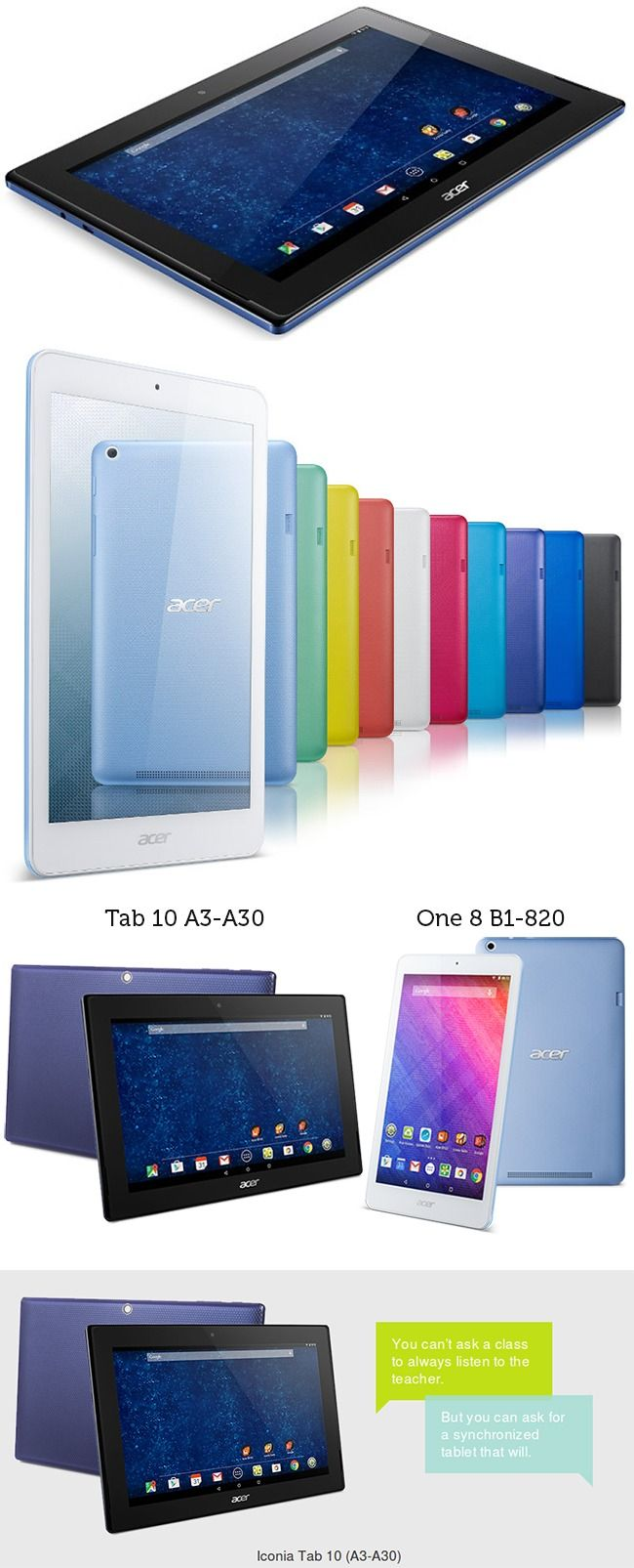 #Acer Iconia #Tab 10 A3-A30 and One 8 B1-820
