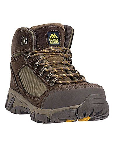 Mcrae Mens 6 Steel Toe Hiking Boots Brown Suede 12 W * Click on the image for additional details.