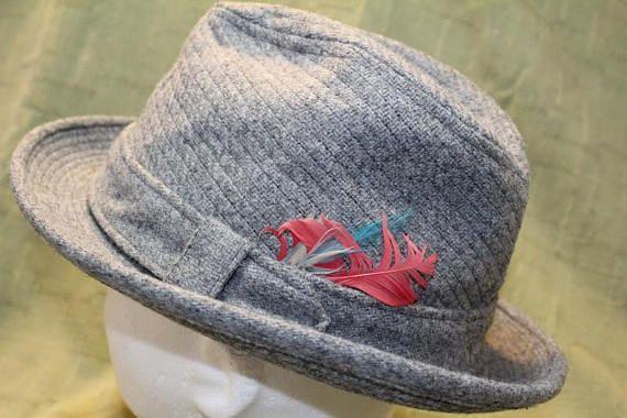 e0aceeb54f11f Vintage Resistol Tweed Men s Dress Hat Fedora 7 1 4 58cm Feather ...