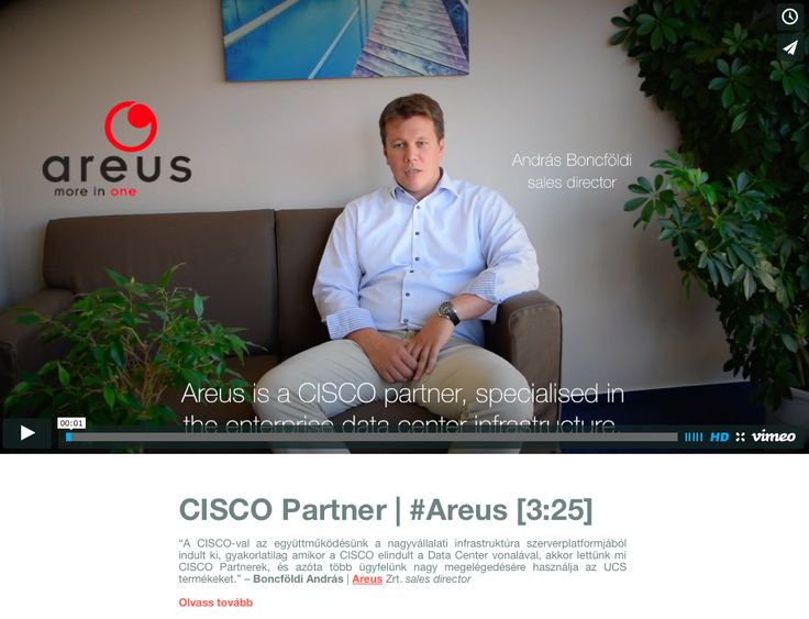 CISCO Partner Video Interjú | #Areus [3:25]