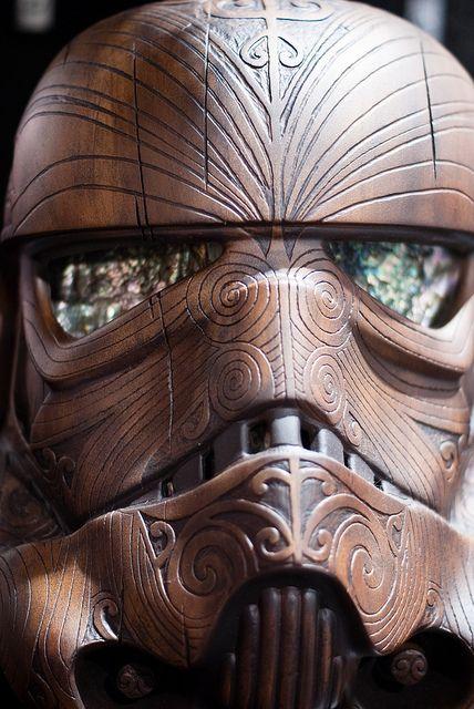 Wooden Stormtrooper Helmet by sdoorly, via Flickr