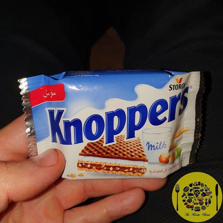 طلعة الحلو المرة دى Knoppers De نوبرز ويفر المانى ب 7 5 جنیة عبارة عن ويفر باللبن و البندق و كريمة نوجا و قطع بندق In 2020 Pop Tarts Snack Recipes Snacks