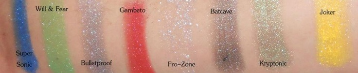 Swatches of the Heroes VS Villains line. No base, no primer.