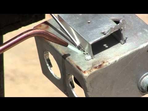 aluminum brazing soldering using alumiweld welding rods - YouTube