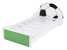 Football beds can be accessorised with bedding from your child (or Dads!) favourite team!  http://www.onlinebedshop.co.uk/children.htm